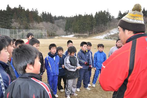 ノーザンブレッツラグビー教室松橋主将の写真